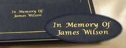 Personalized Engraving on Every Memorial Book
